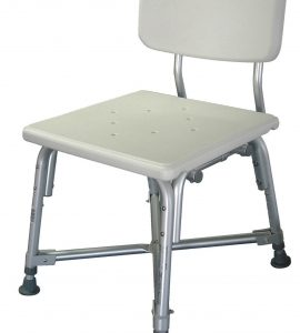 SHOWER STOOL WITH BACK BARIATRIC