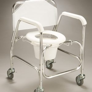 Mobile Shower commode-Economy Aluminium B1024